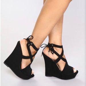 4735e44f1b2 Black Wedges Fashion Nova Brand New